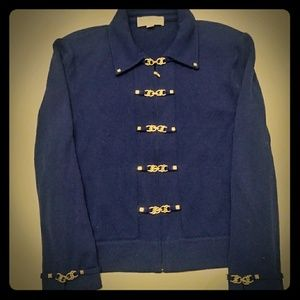 St John collection vintage knit sweater blazer